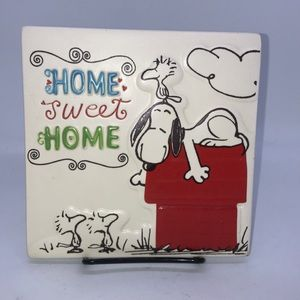 Hallmark Peanuts Home Sweet Home Wall Plaque
